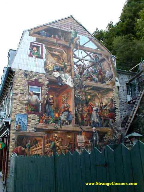 Pintura artística sobre una fachada expuesta a la calle