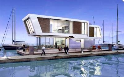 Casa flotante contemporánea