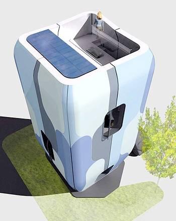 Casa prefabricada ergonómica de aspecto futurista