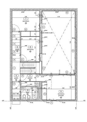 Plano de casa chorizo reformada