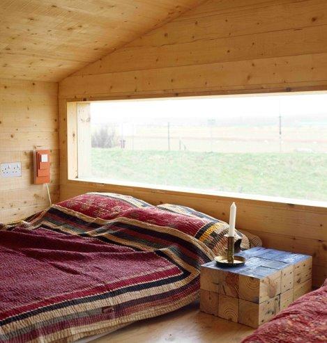 Dormitorio de la cabina de playa