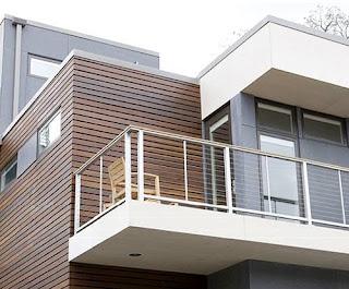 Terminación exterior en madera