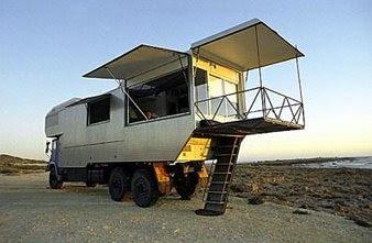 Casa sobre camión