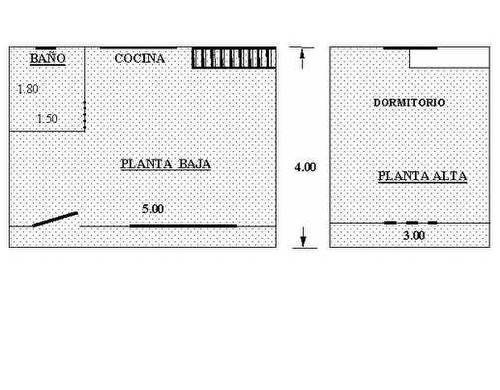 Plano de plantas de cabaña prefabricada