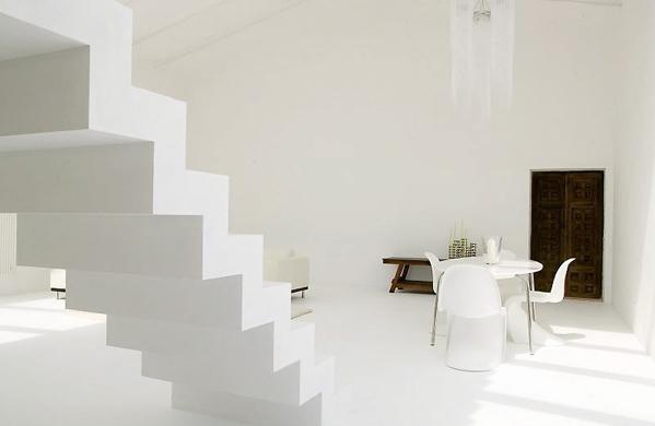 Perspectiva de la escalera