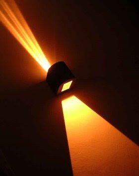 Lámpara a la pared doble haz de luz