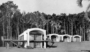 La casa en 1947 fotografía en blanco y negro Casa Berlingieri