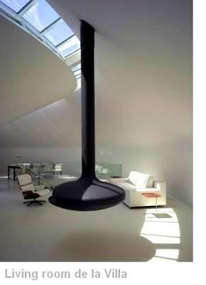 Interior de la casa redonda