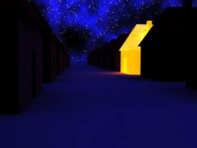 Casa iluminada - Imagen de www.sxc.hu