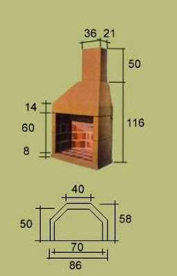 Como construir parrillas de ladrillos hornos de barro for Chimeneas con pulmon