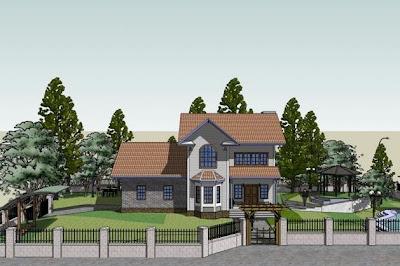 Imagen de dibujo 3D de arquitectura