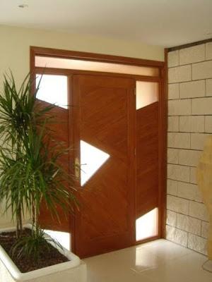 Puerta de madera con estilo