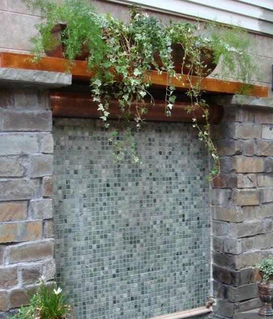 Arquitectura de casas fuente para el patio - Fuentes para patios ...
