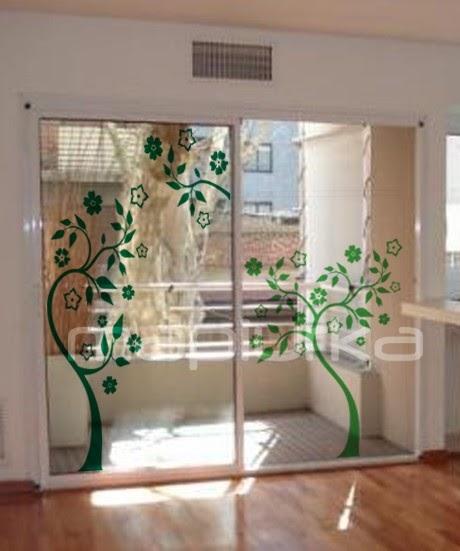 Arquitectura de casas vinilo decorativo en ventanas - Vinilos decorativos para paredes exteriores ...