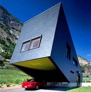 Cochera de la casa rural suiza