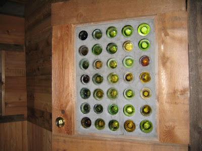 Ventana de botellas