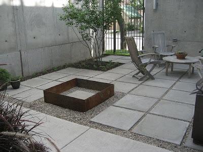Canteros en patio