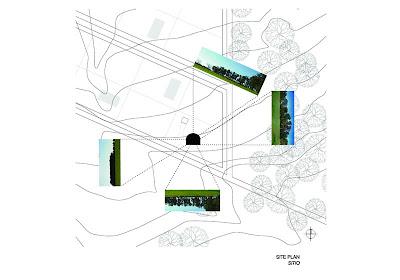Plano arquitectónico ubica la casa en el terreno