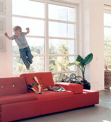 Polder sofá en una sala
