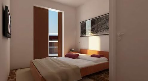 Dormitorio en el nivel más elevado