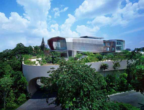 Arquitectura de casas una villa del futuro en malasia for Casas futuristas