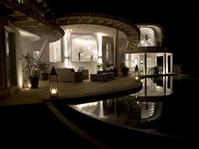 Villa en Mallorca de noche