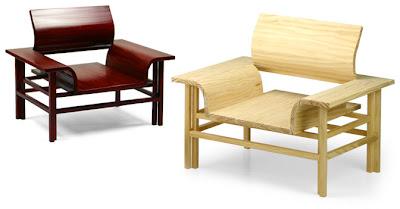 Sillón de madera de diseño moderno