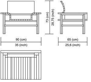 Esquema del diseño del sillón