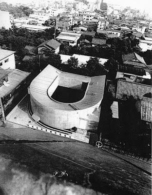Vista aérea de la casa japonesa moderna