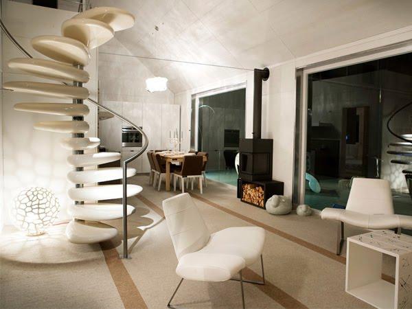 Arquitectura de casas escalera caracol escult rica - Escalera caracol prefabricada ...
