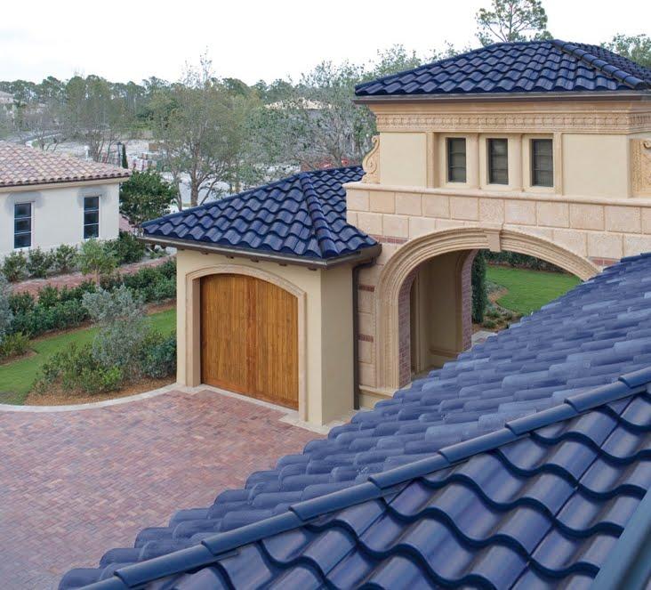 Arquitectura de casas tejas curvas solares usa - Tejados de casas modernas ...