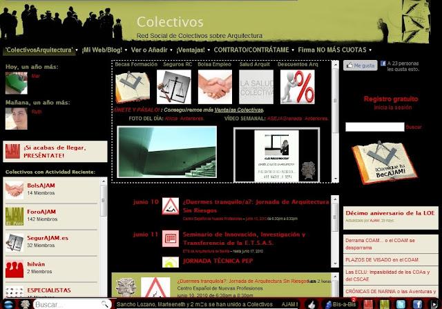 Colectivos sobre arquitectura sitio web