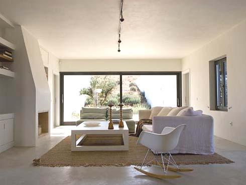 Interior casa bioclimatica