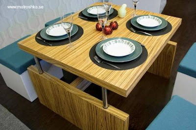 Mueble multifuncional para espacios pequeños mesa transformable