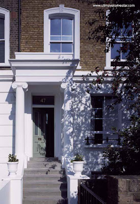 Fachada casa estilo inglés