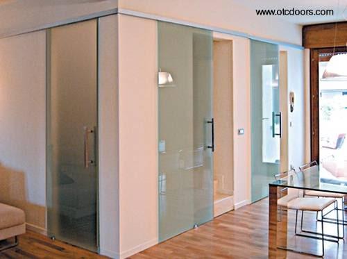Arquitectura de casass puertas de cristal dise o italiano for Puertas diseno italiano