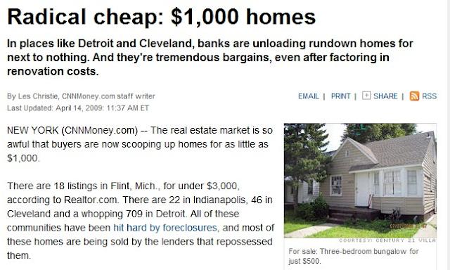 Información de casas baratas en los Estados Unidos