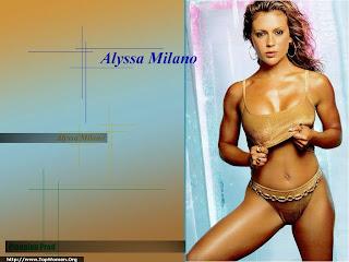 Alyssa Milano Bikini Wallpaper