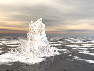 Iceberg In Water 3D Desktop Wallpaper