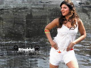 Telugu Actress Rambha In Bikini