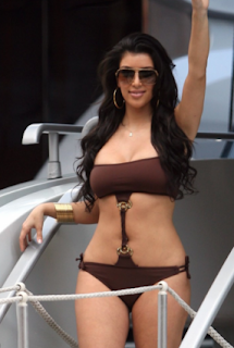 Kim Kardashian In Hot Brown Bikini