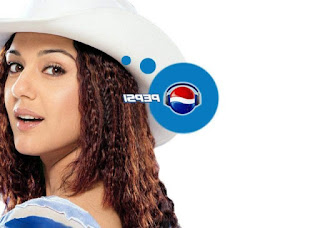 Preity Zinta Cute Pepsi Wallpaper