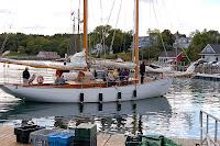 Schooner docking at Rockport Marine Park