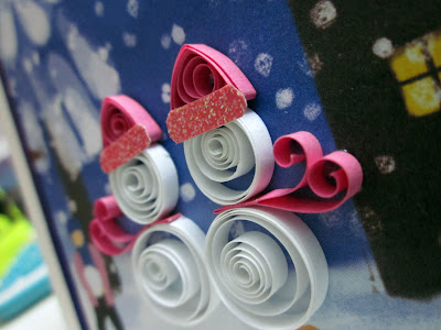 beautiful christmas cards: quilling cards