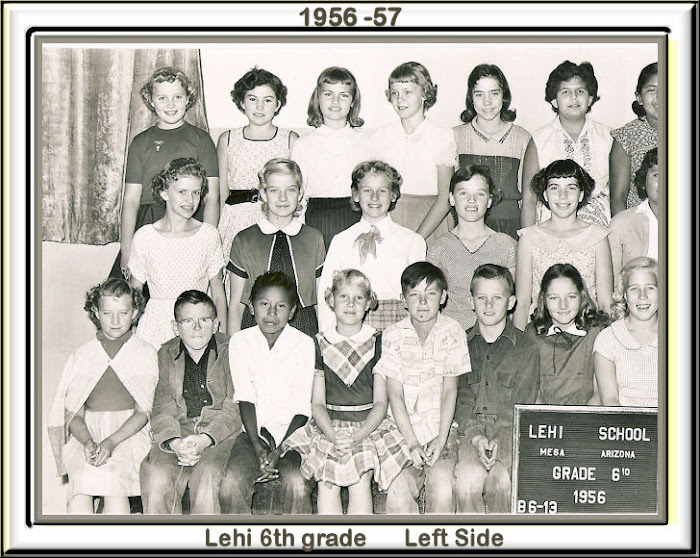 Lehi 6th grade 1956 -57 Left side