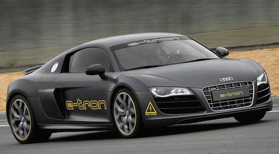 Audi R-8 e-Tron Black