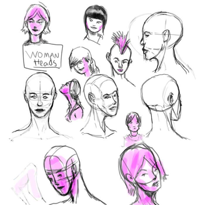 Tony Neto Sketchbook Womans%2Bhead