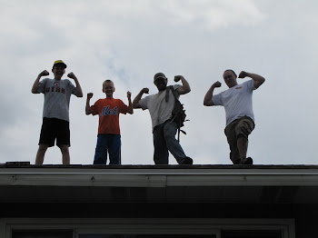 My wonderful roofers and assistants