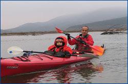 Acampando en kayak