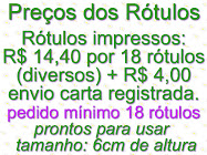 Preos dos Rtulos
